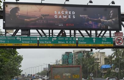 A Netflix outdoor in India
