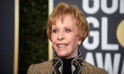 Actressa nd producer Carol Burnett, Golden Globe winner