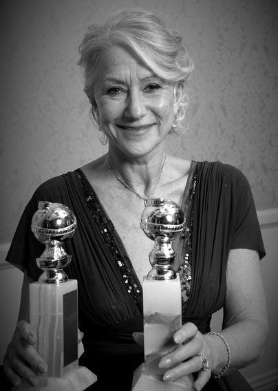 Actress Helen Mirren, Golden Globe winner