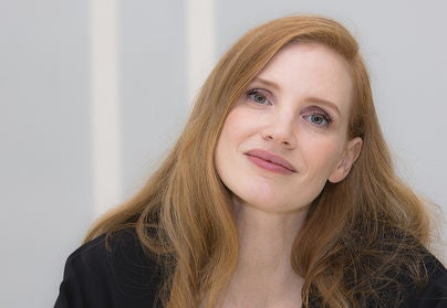 Actress Jessica Chastain, Golden Globe winner