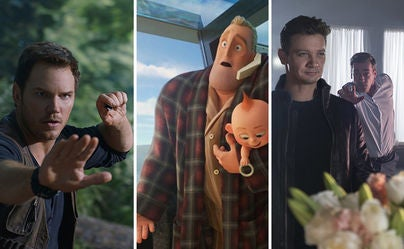 """Scenes from """"Jurassic World: Fallen Kingdom"""", """"Incredibles 2"""" and """"Tag"""""""