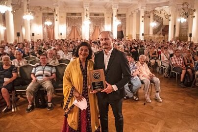 HFPA President Meher Tatna at the 2019 Karlovy Vary Film Festival