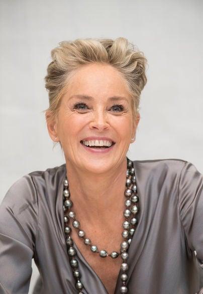 Actress Sharon Stone, Golden Globe winner