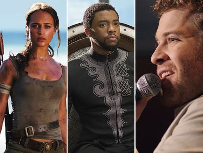 """Scenes from """"Tomb Raider"""", """"Black Panther"""" and """"I Can Only Imagine"""""""