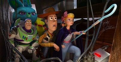"""Tom Hanks, Tim Allen, Annie Potts, Keegan-Michael Key and Jordan Peele in """"Toy Story 4"""" (2019)"""
