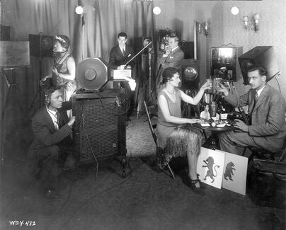 Scene from The Queen's Messenger (1928). The first television drama aired over an experimental television system on General Electric's station W2XAD in Schenectady, New York.