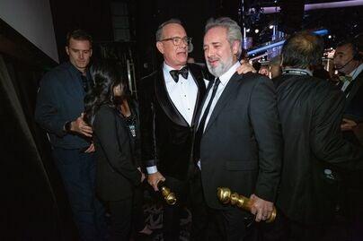 Director Sam Mendes, Golden Globe winner and Tom Hanks