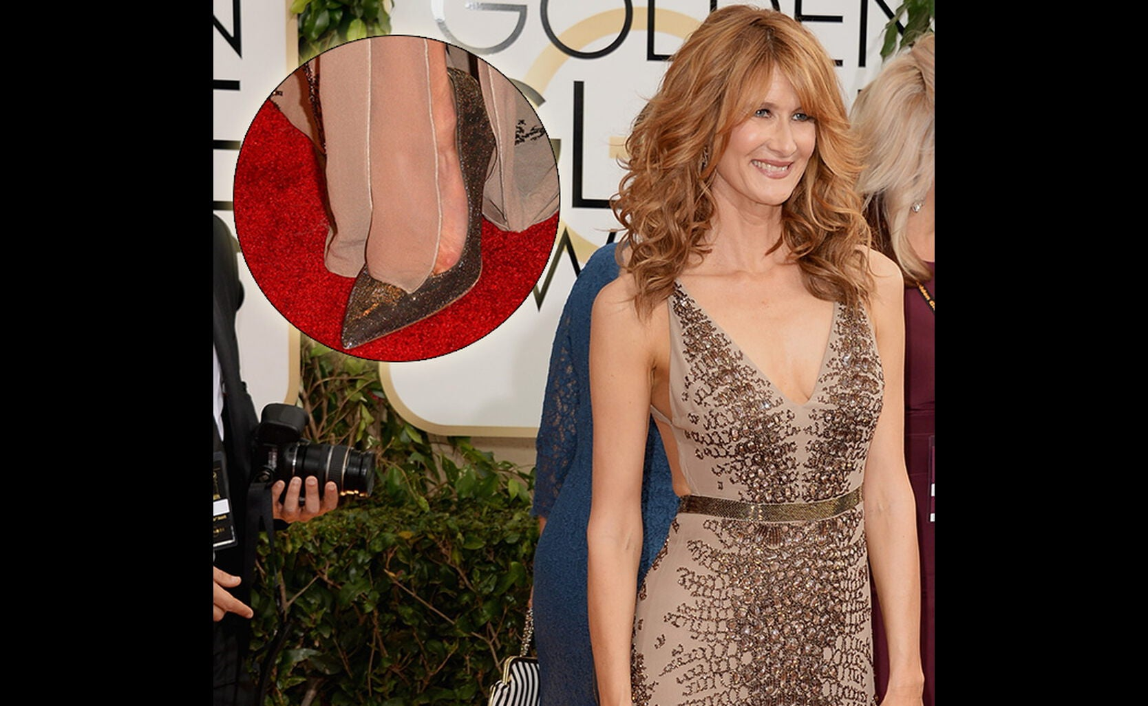 Glorious Shoes at the 71st Annual Golden Globes