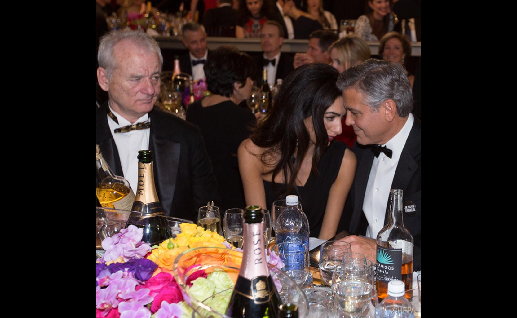 Ballroom Tables at the 72nd Annual Golden Globe Awards ... Bill Murray 2017 Golden Globes