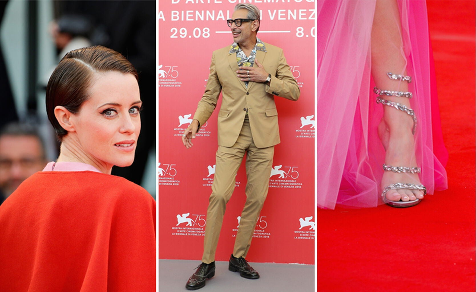 Claire Foy, Jeff Goldblum and guest.