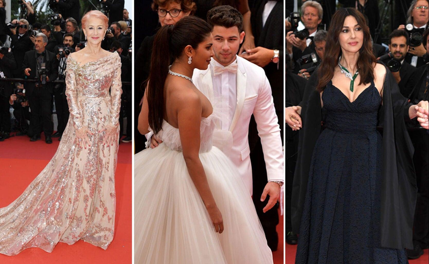 Dame Helen Mirren, Priyanka Chopra with Nick Jonas, Monica Bellucci