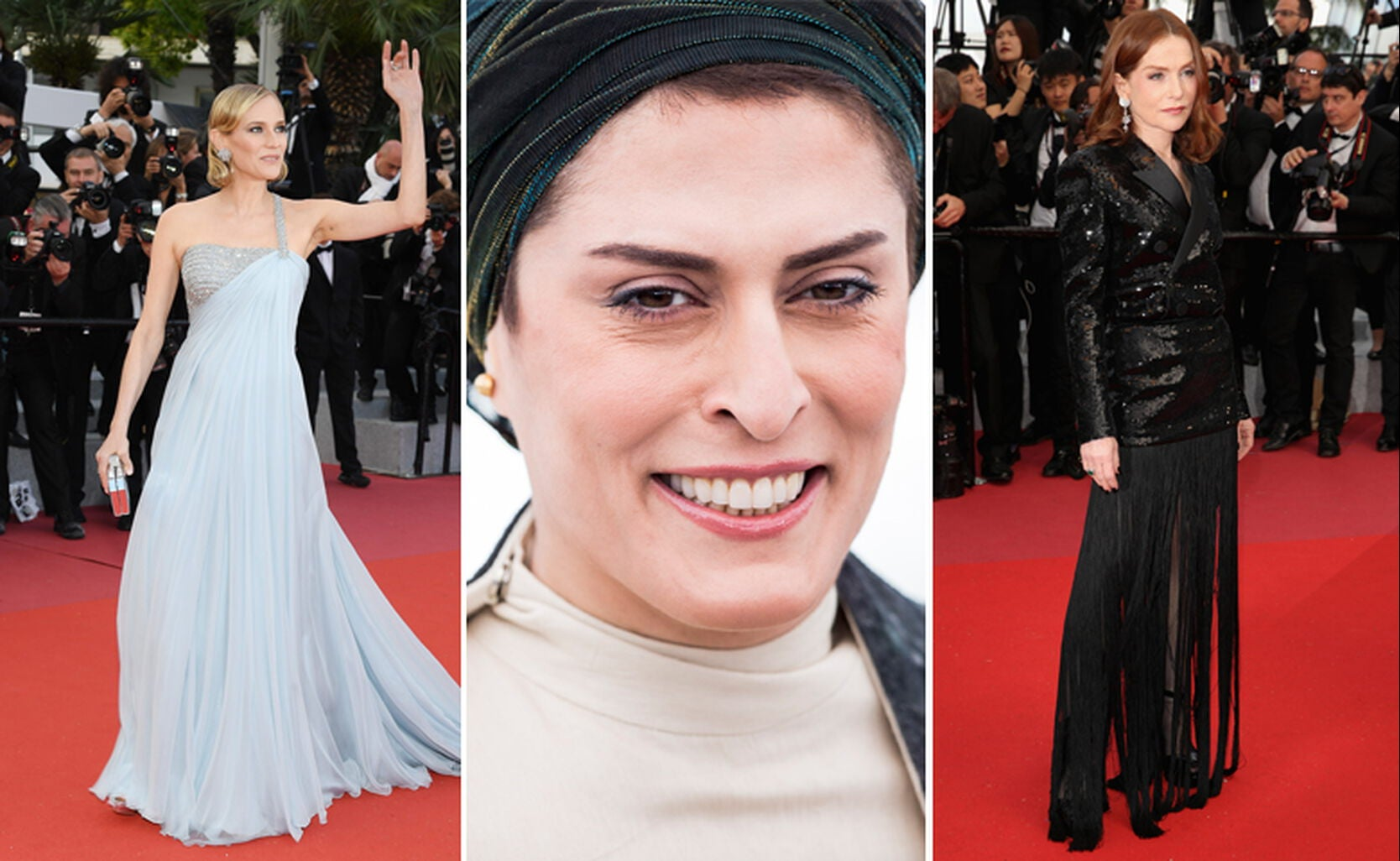 Diane Kruger, Behnaz Jafari and Isabelle Huppert