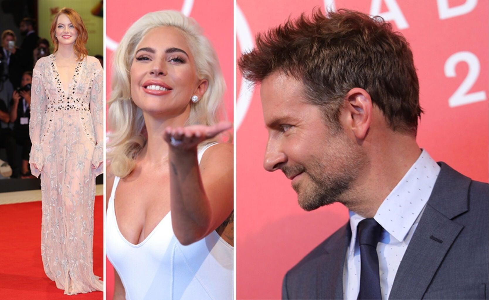 Emma Stone, Lady Gaga, Bradley Cooper