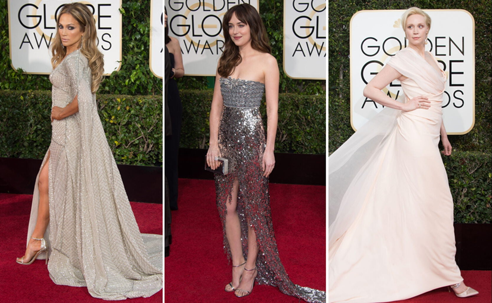 Jennifer Lopez, Dakota Johnson and Gwendoline Christie