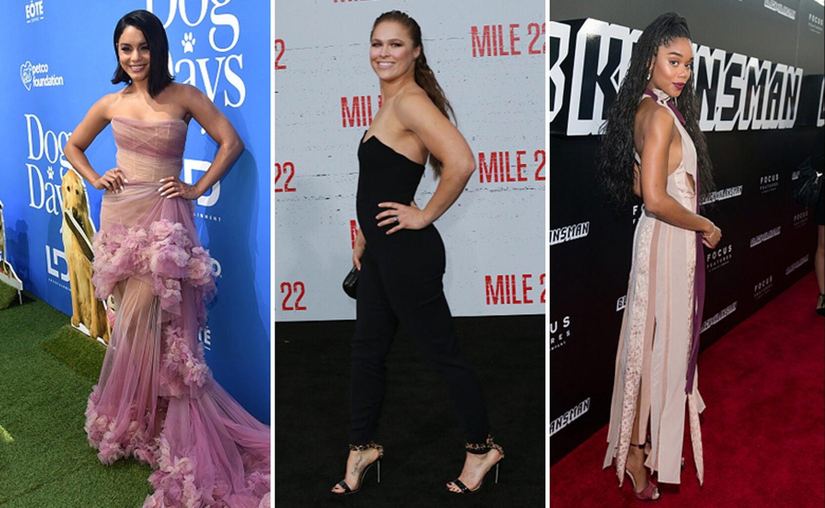Vanessa Hudgens, Ronda Rousey and Laura Harrier
