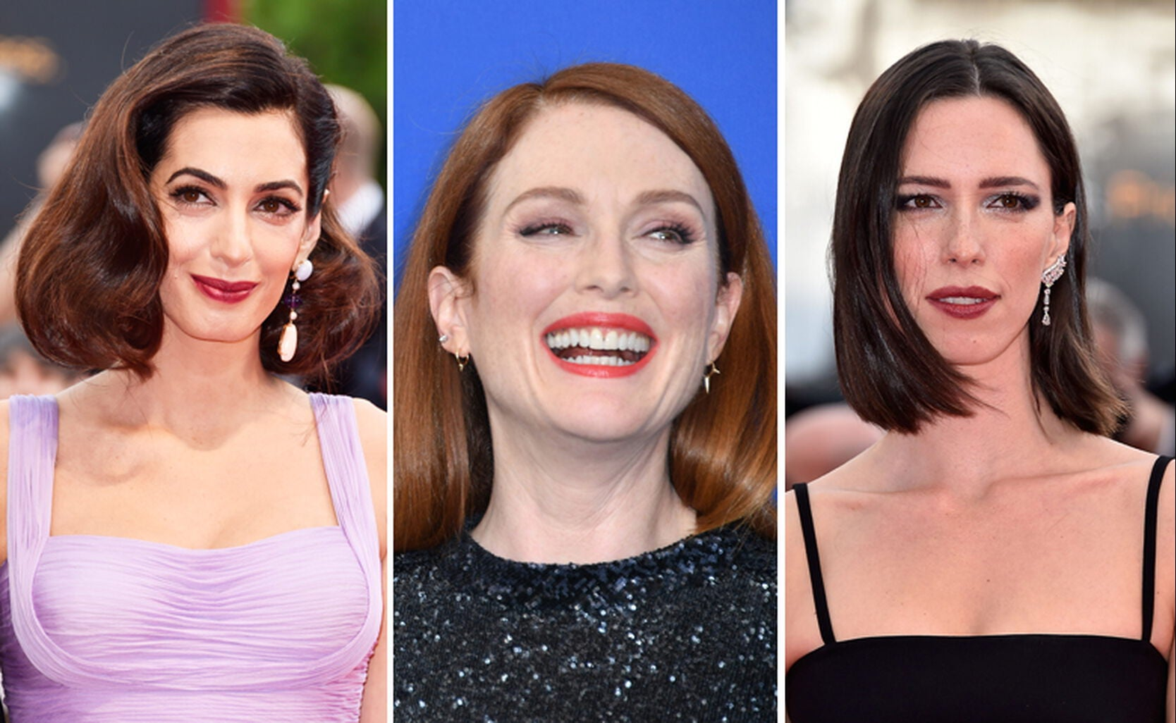 Amal Clooney, Julianne Moore and Rebecca Hall