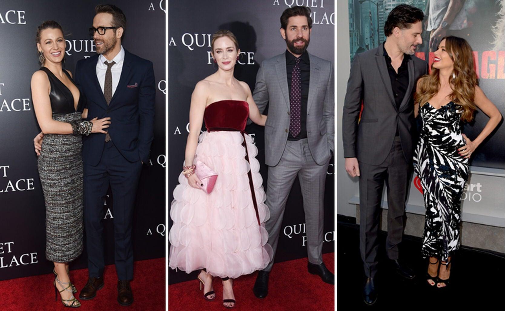 Blake Lively with Ryan Reynolds, Emily Blunt with John Krasinski, and Joe Manganiello with Sofia Vergara