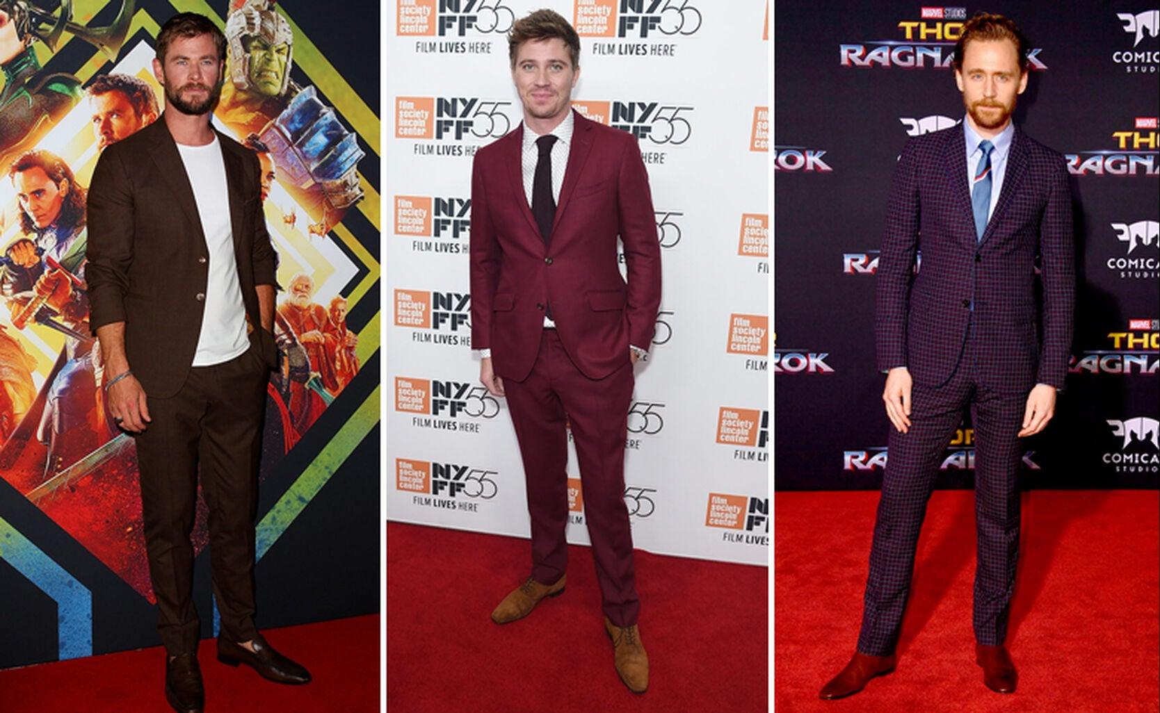 Chris Hemsworth, Garrett Hedlund and Tom Hiddleston