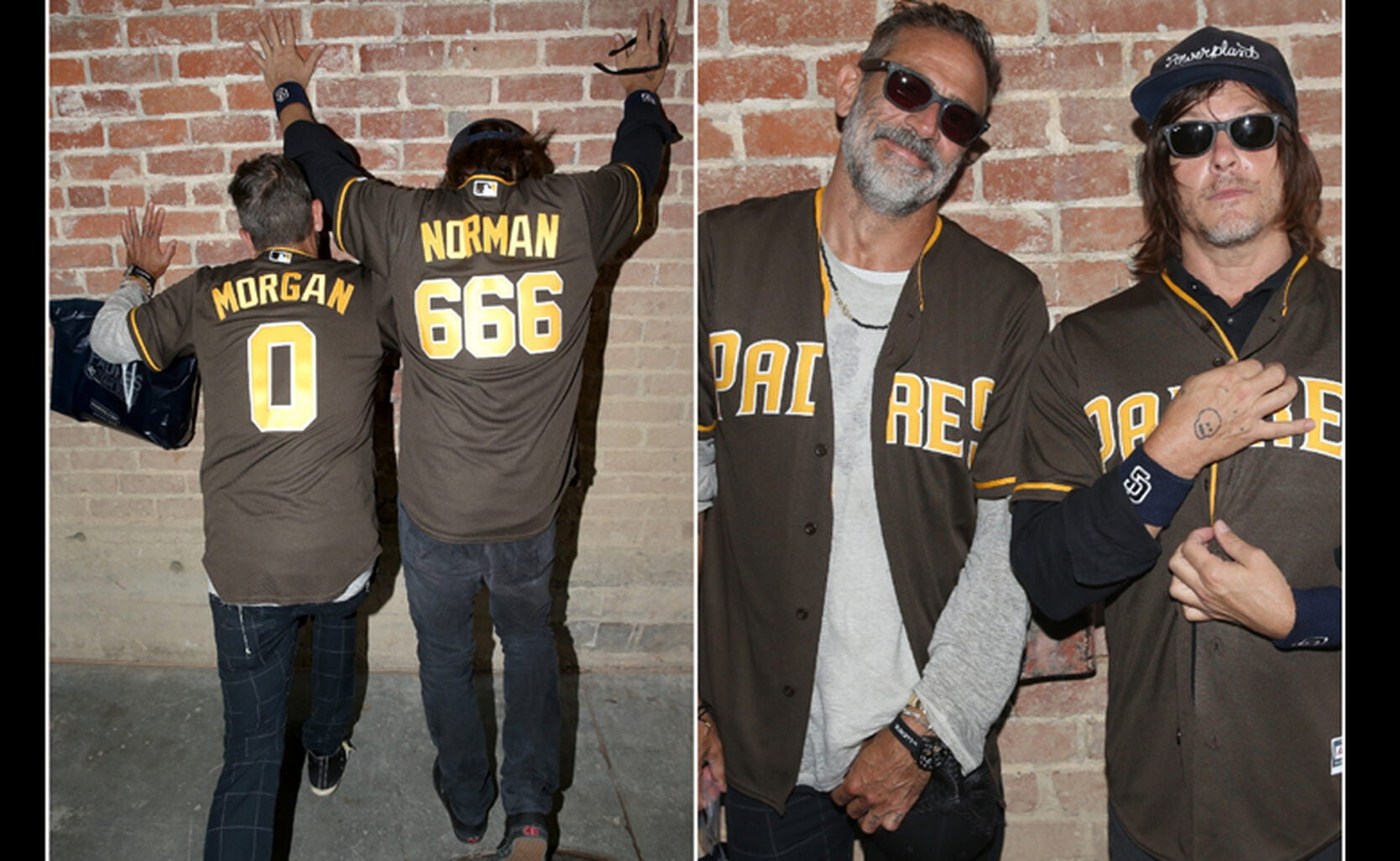 Actors Norman Reedus and Jeffrey Dean Morgan