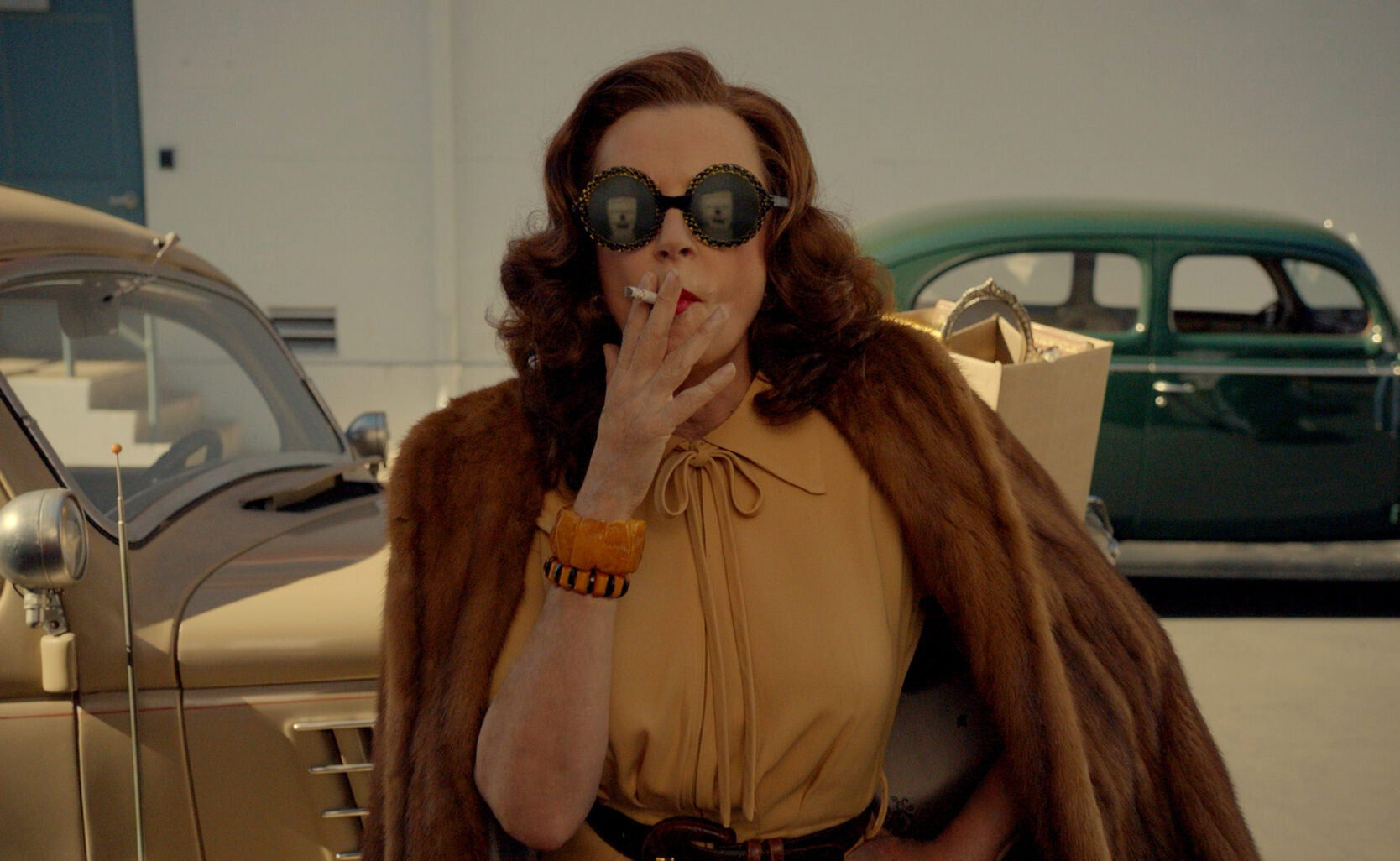 "Susan Sarandon as Bette Davis in ""Feud"""