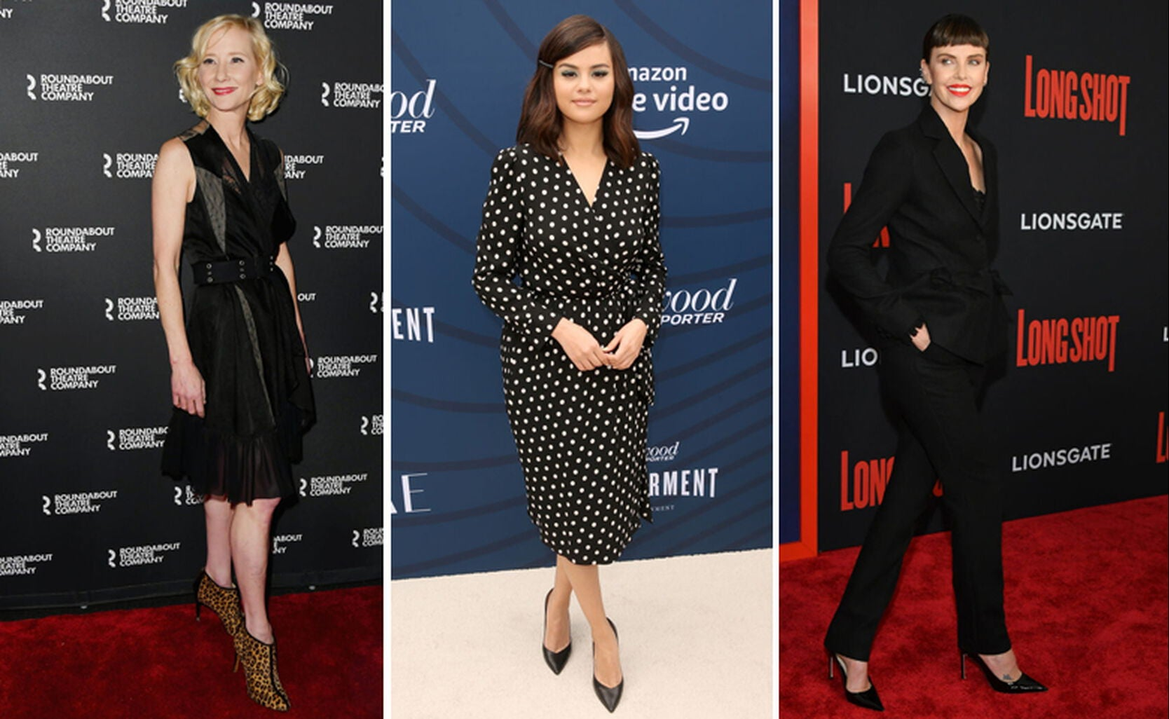 Anne Heche, Selena Gomez, Charlize Theron