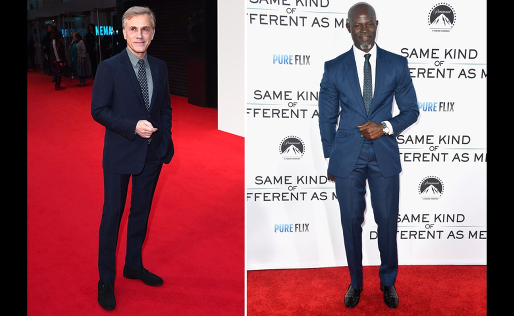Christoph Waltz and Djimon Hounsou
