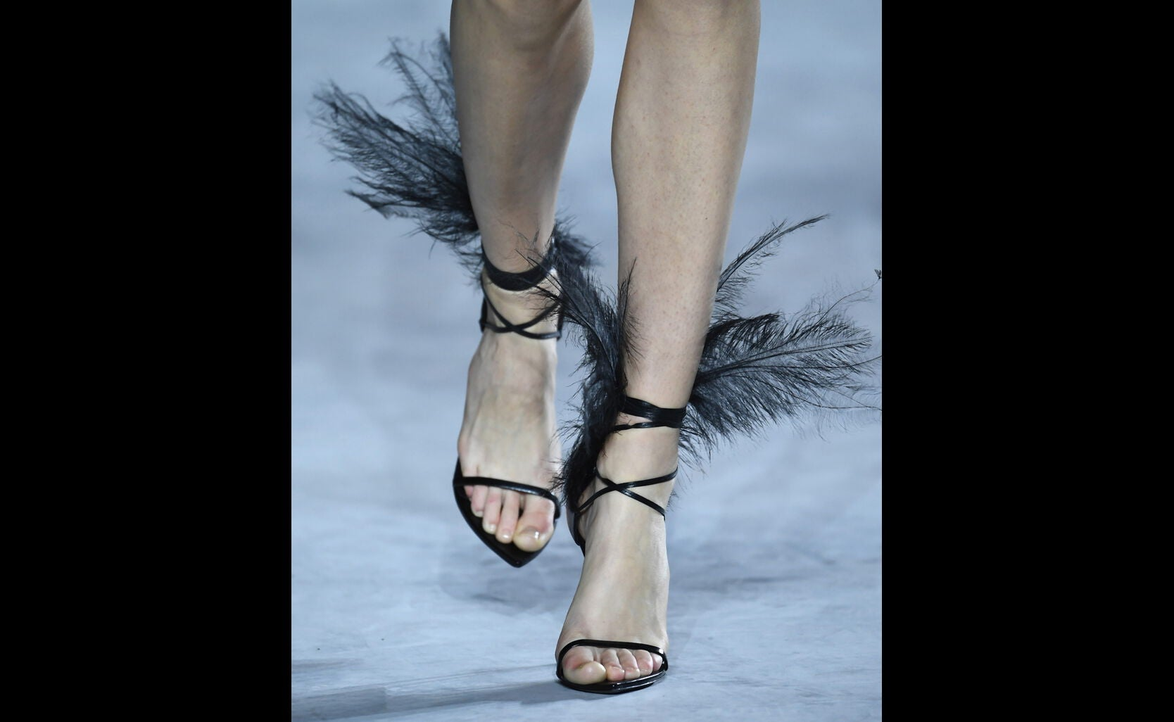 Feathered sandals