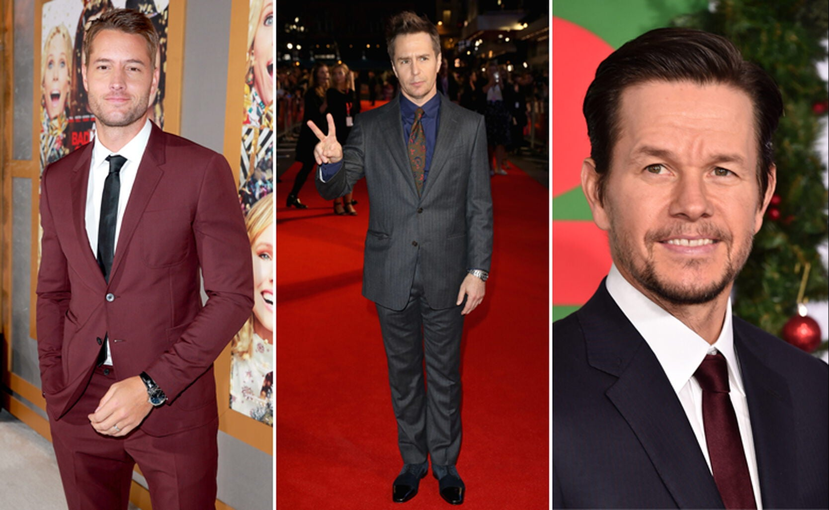 Justin Hartley, Sam Rockwell and Mark Wahlberg