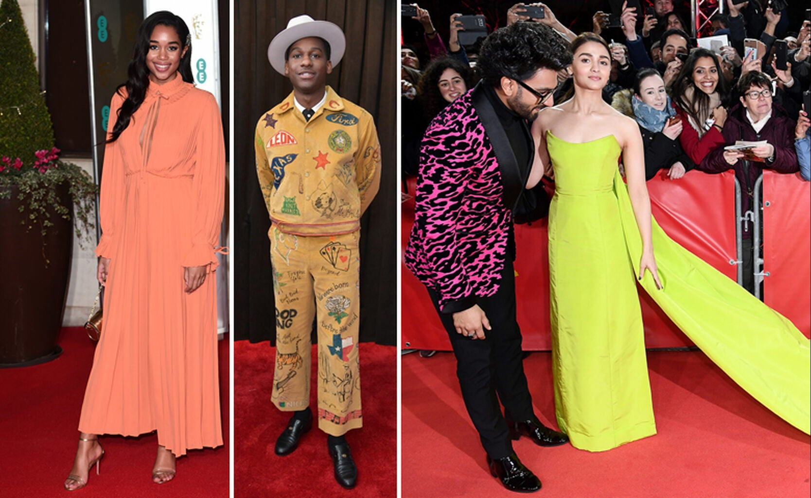 Laura Harrier, Leon Bridges, Ranveer Singh with Alia Bhatt