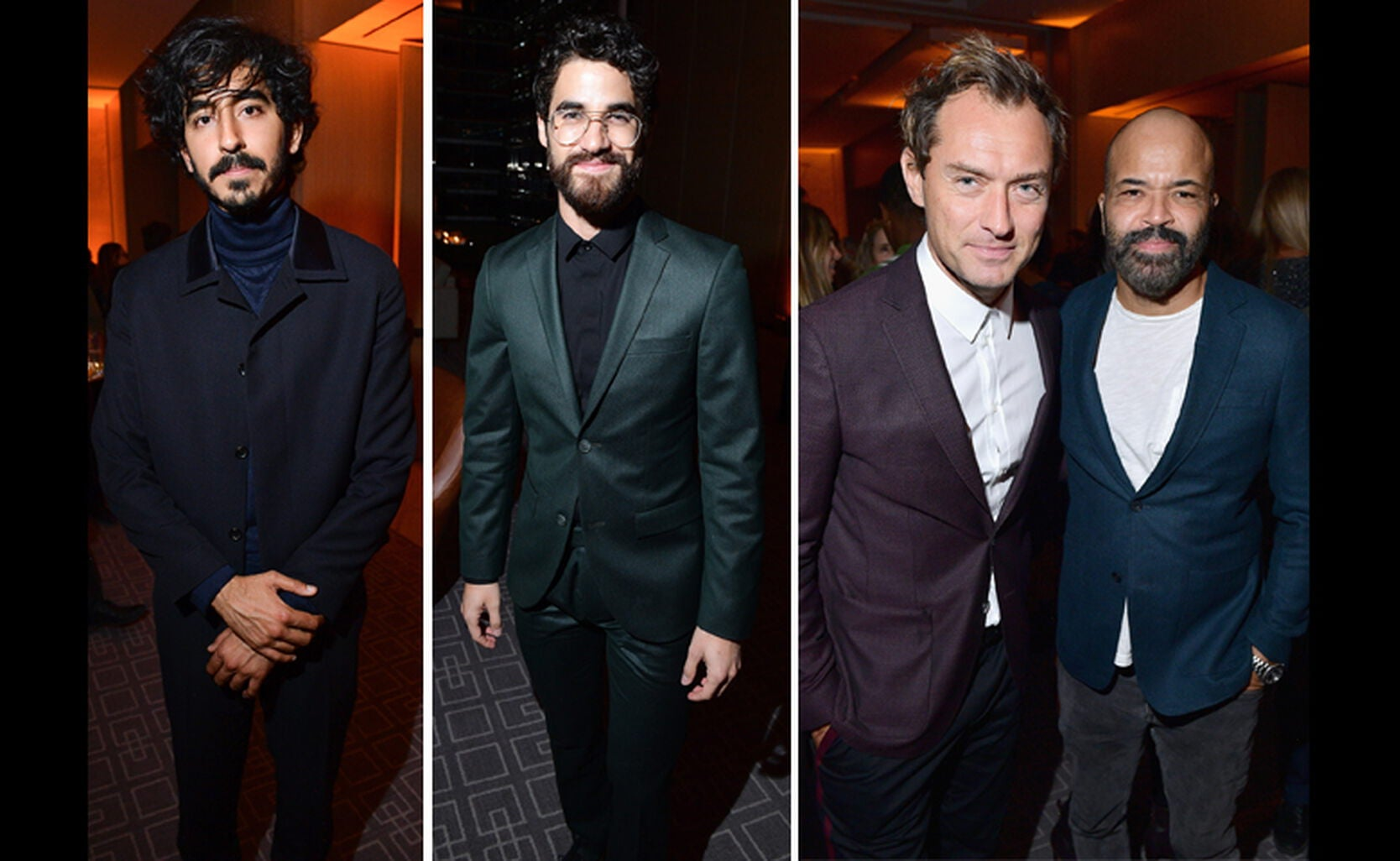 Dev Patel, Darren Criss, Jude Law with Jeffrey Wright