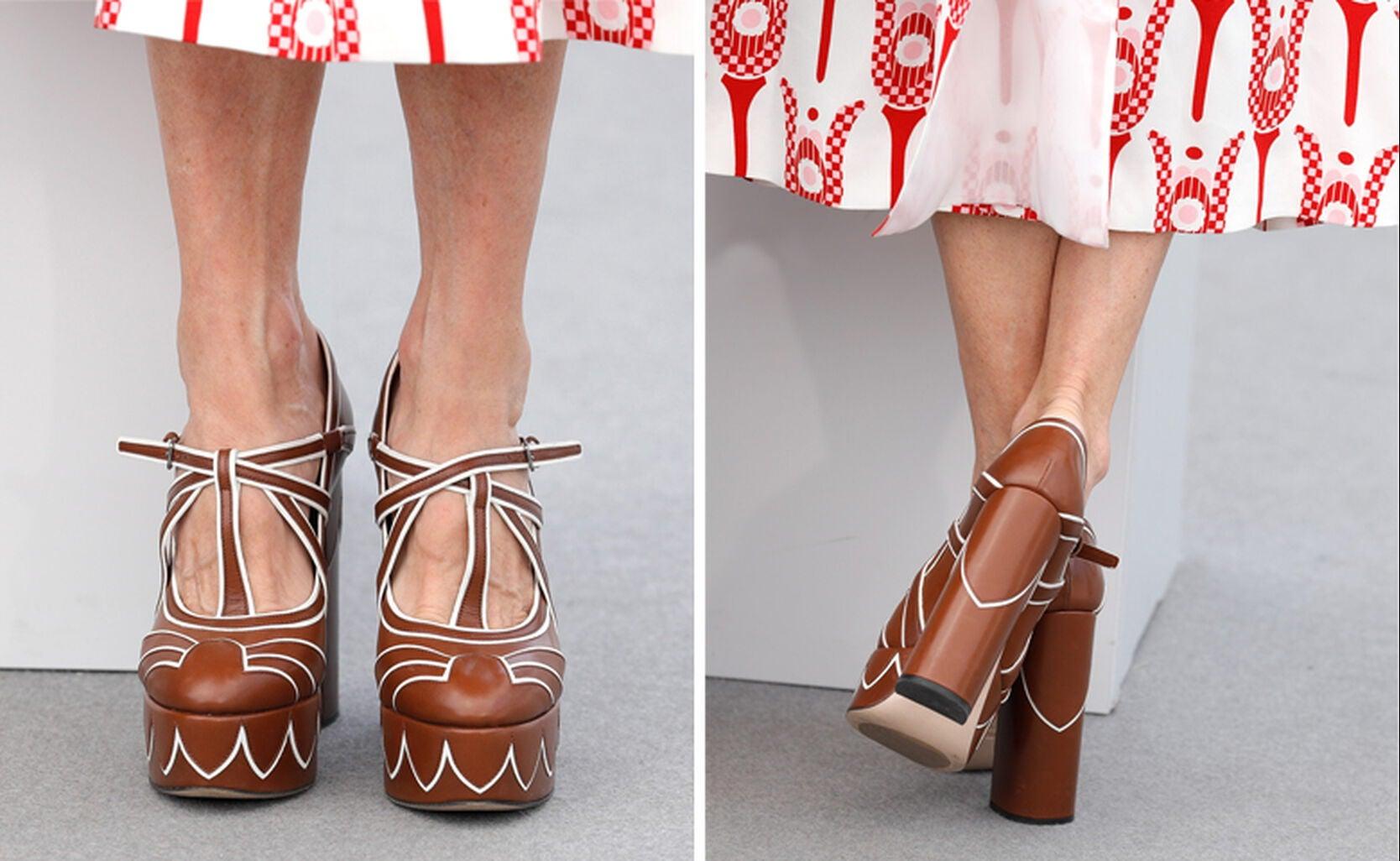 Miuccia Prada shoes