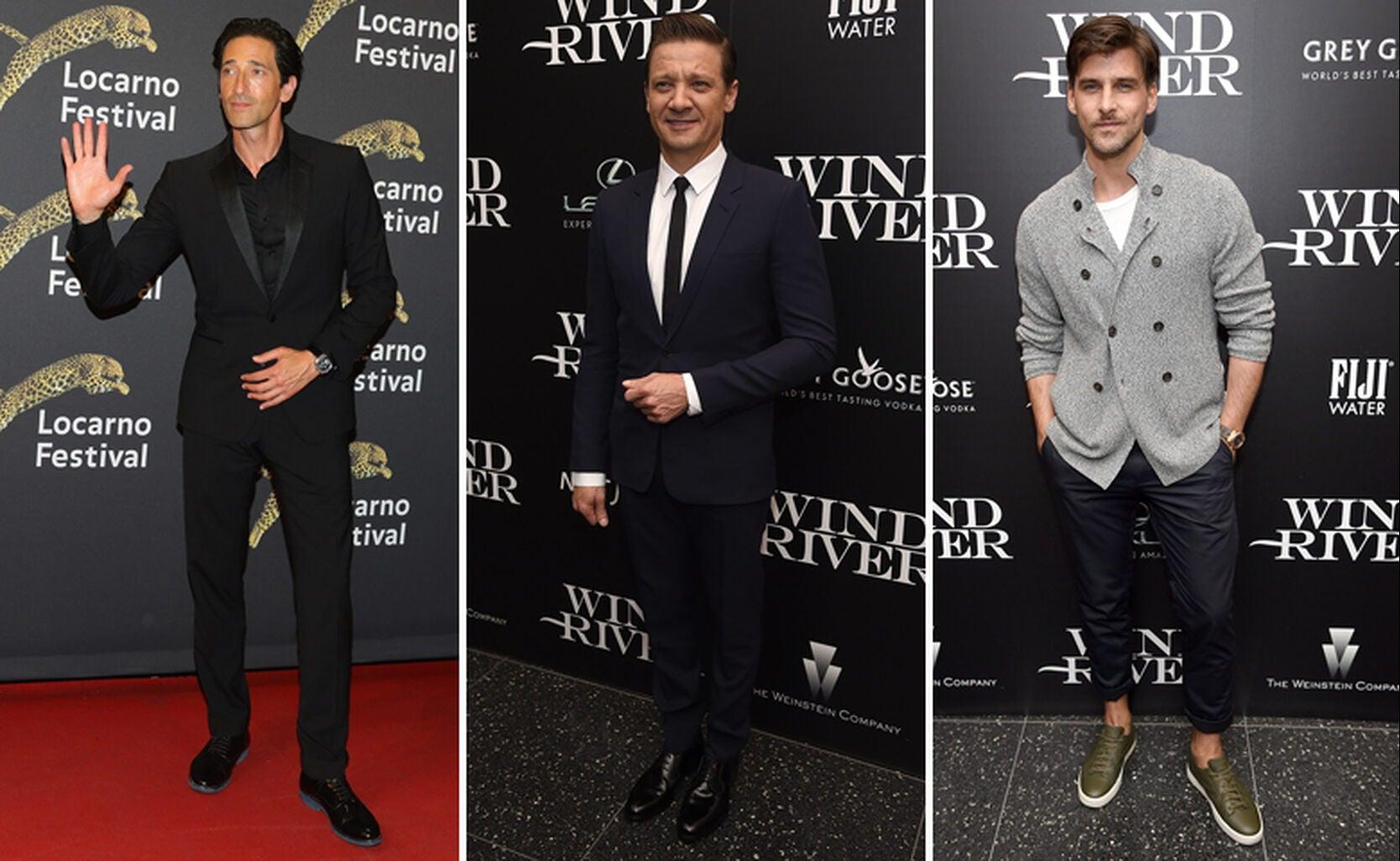 Adrien Brody, Jeremy Renner and Johannes Huebl