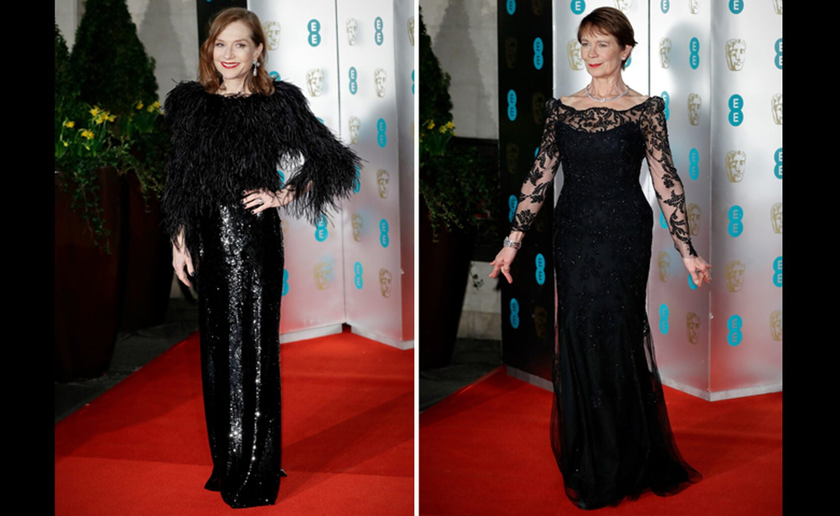 Isabelle Huppert and Celia Imrie