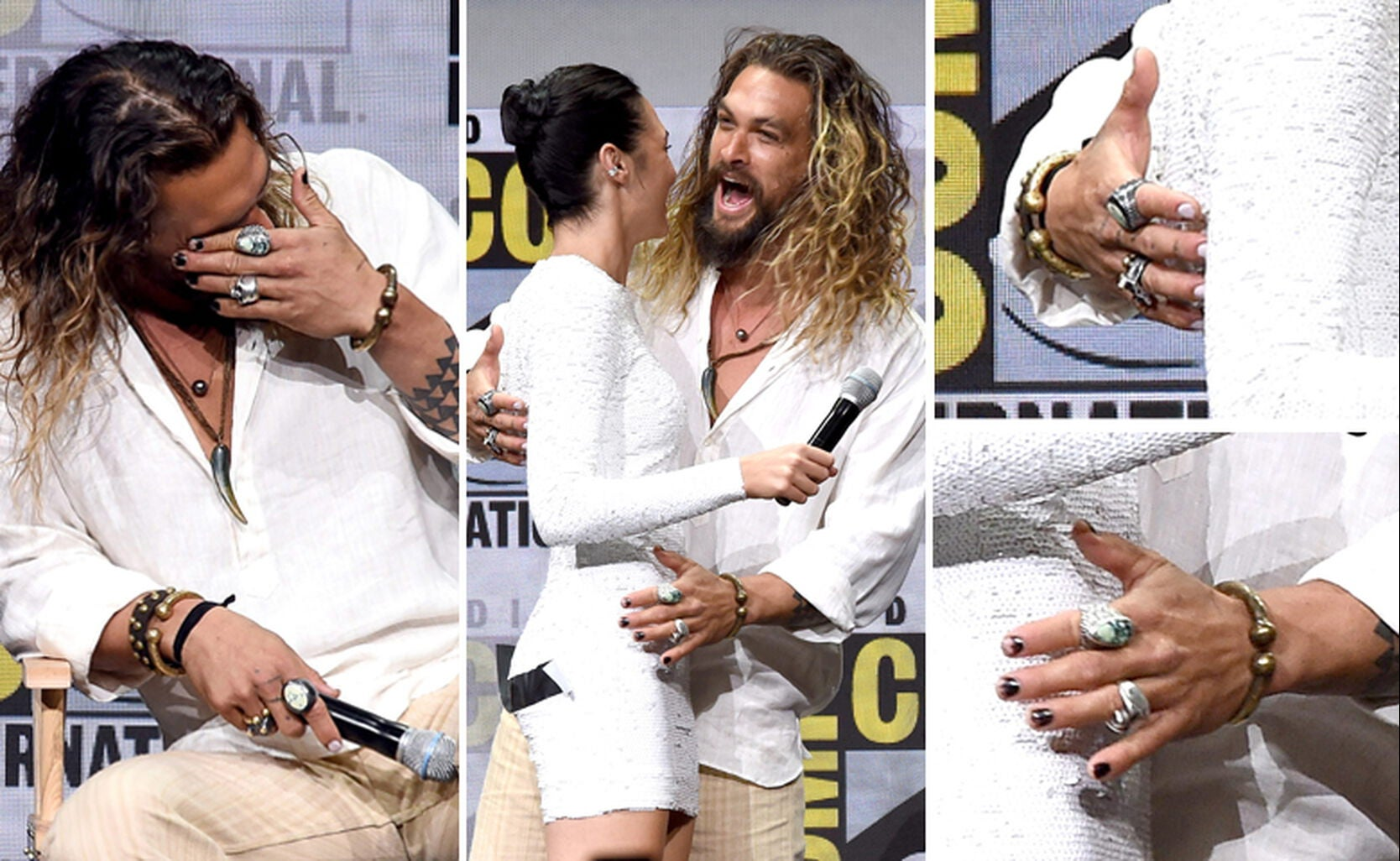 Jason Momoa and Gal Gadot