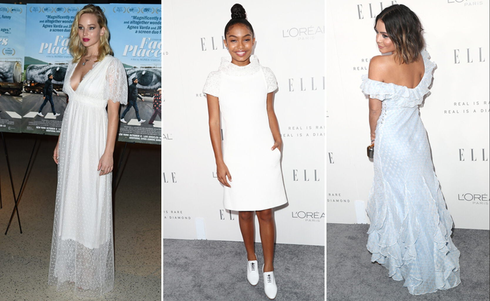 Jennifer Lawrence, Yara Shahidi and Vanessa Hudgens