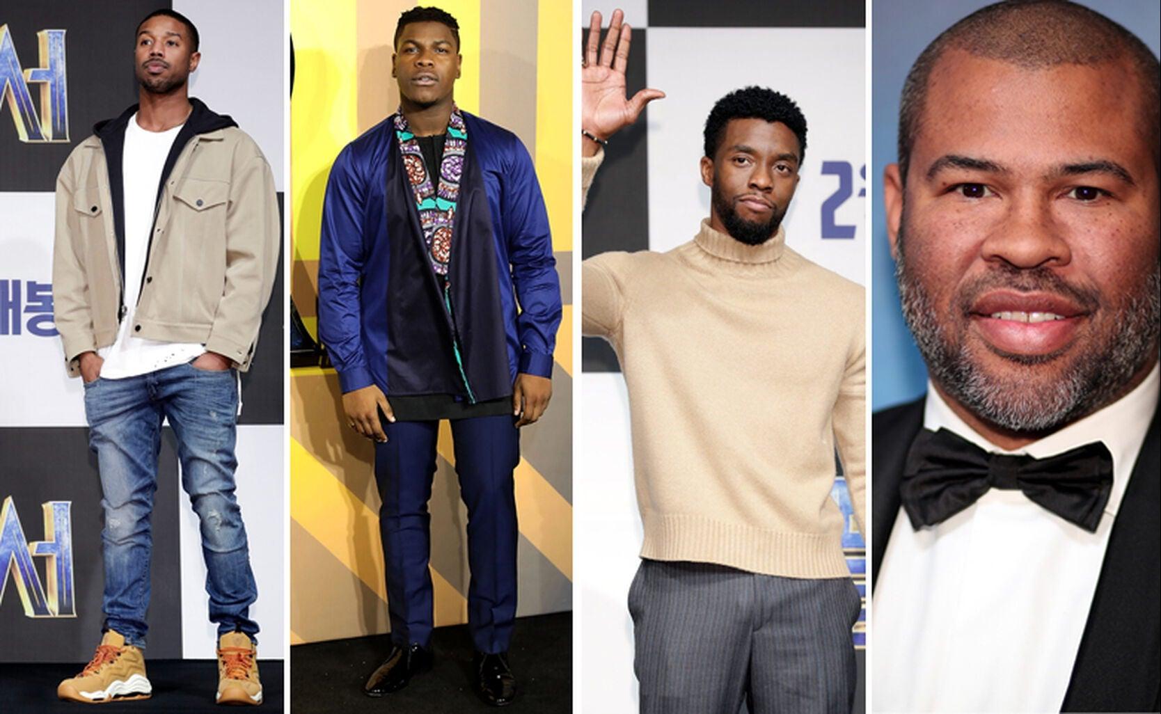 Michael B. Jordan, John Boyega, Chadwick Boseman and Jordan Peele