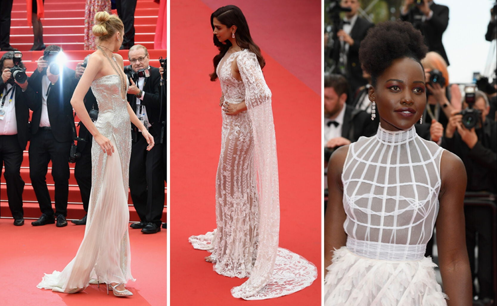 Stella Maxwell, Deepika Padukone and Lupita Nyong'o