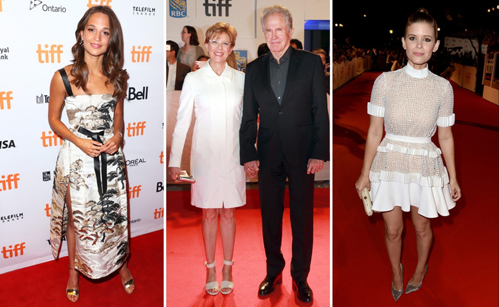 Alicia Vikander, Annette Bening with Warren Beatty and Kate Mara
