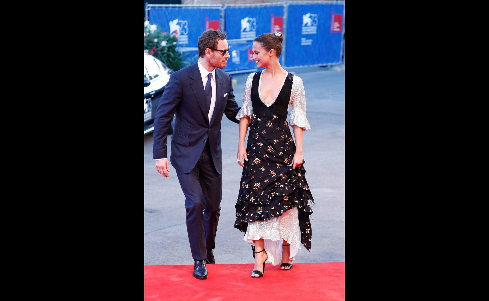 Michael Fassbender and Alicia Vikander at 2016 Venice Film Festival