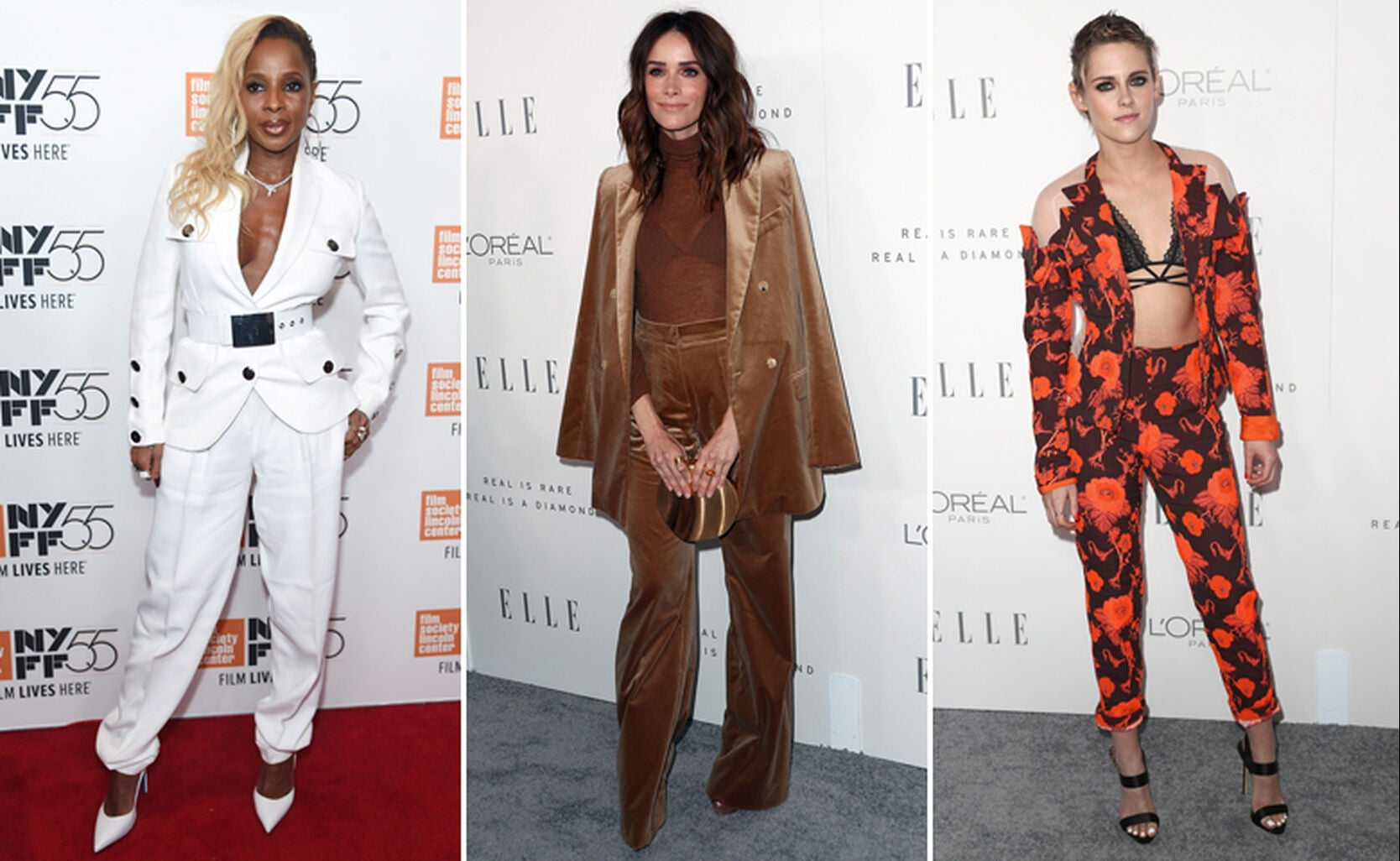 Mary J. Blige, Abigail Spencer and Kristen Stewart