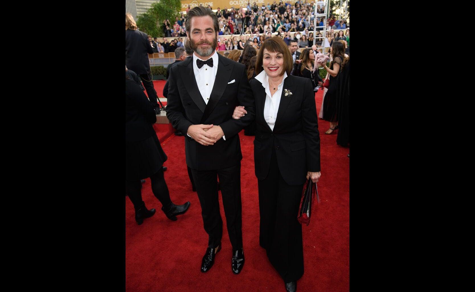 Chris Pine and Mum