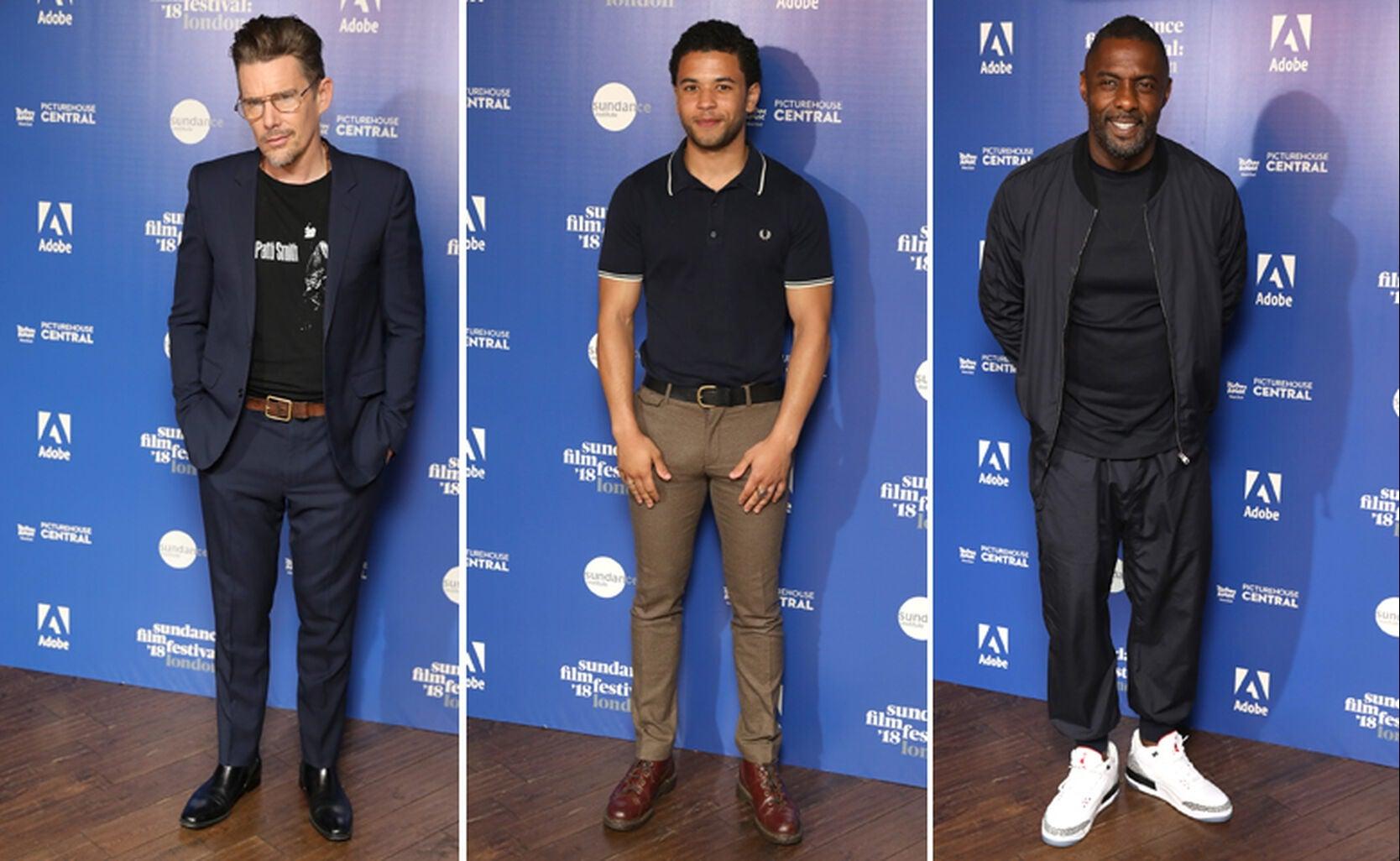 Ethan Hawke, Calvin Demba and Idris Elba