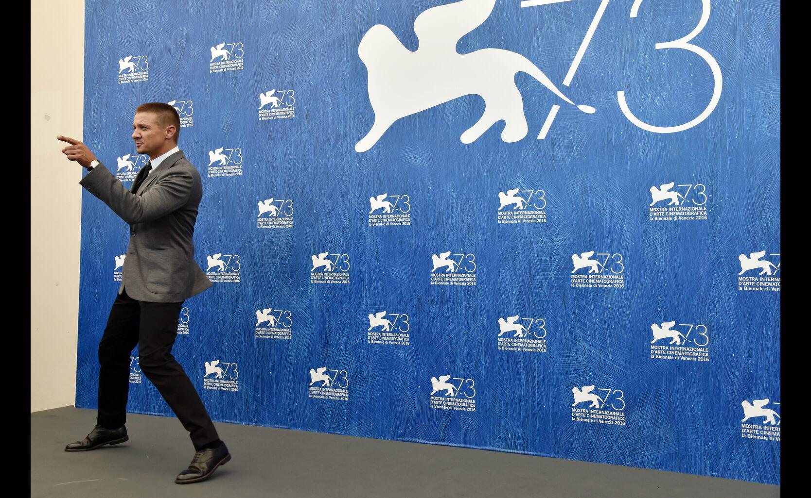 Jeremy Renner at 2016 Venice Film Festival