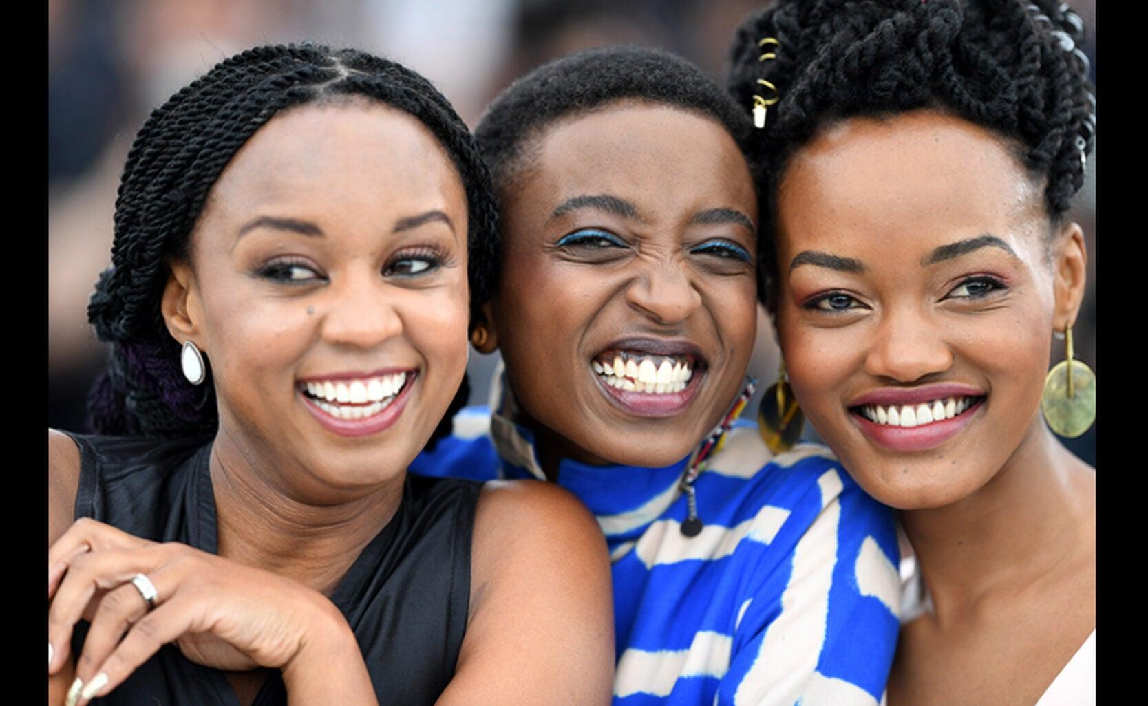 director Wanuri Kahiu, actresses Samantha Mugatsia and Sheila Munyiva