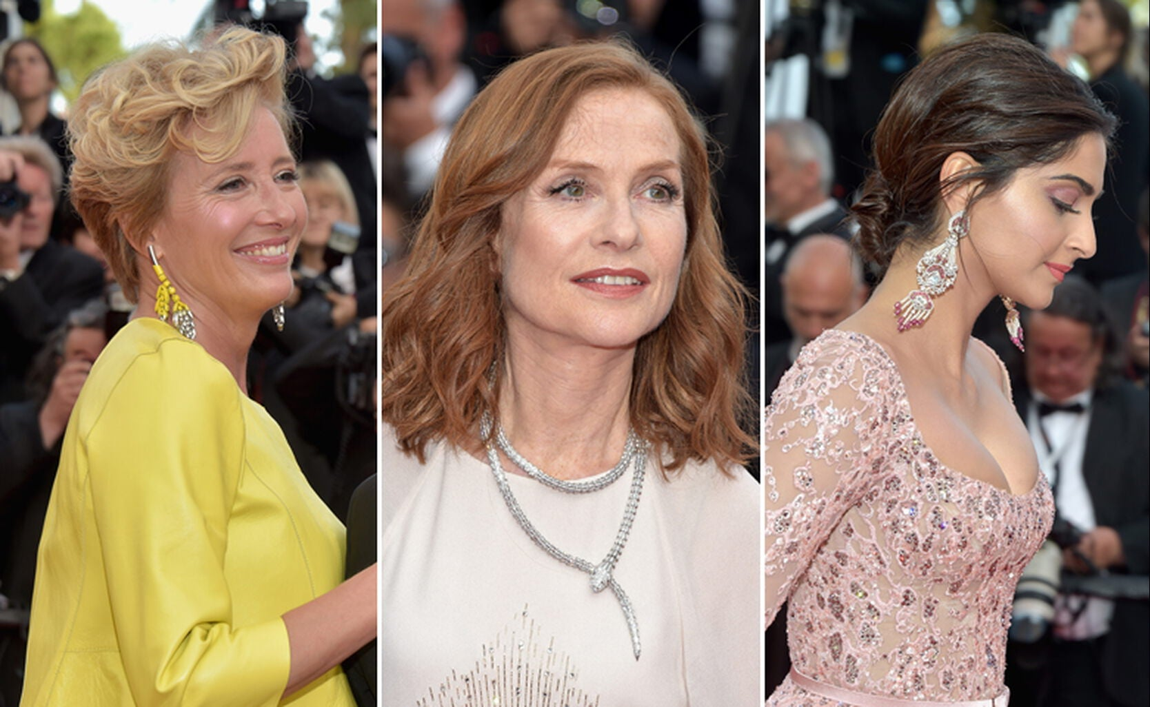 Emma Thompson, Isabelle Huppert and Sonam Kapoor