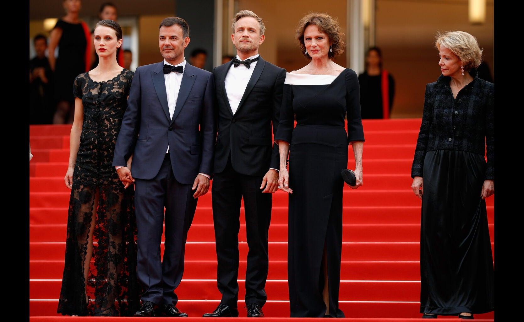 Marine Vacth, Francois Ozon, Jeremie Renier, Jacqueline Bisset and Frederique Bredin