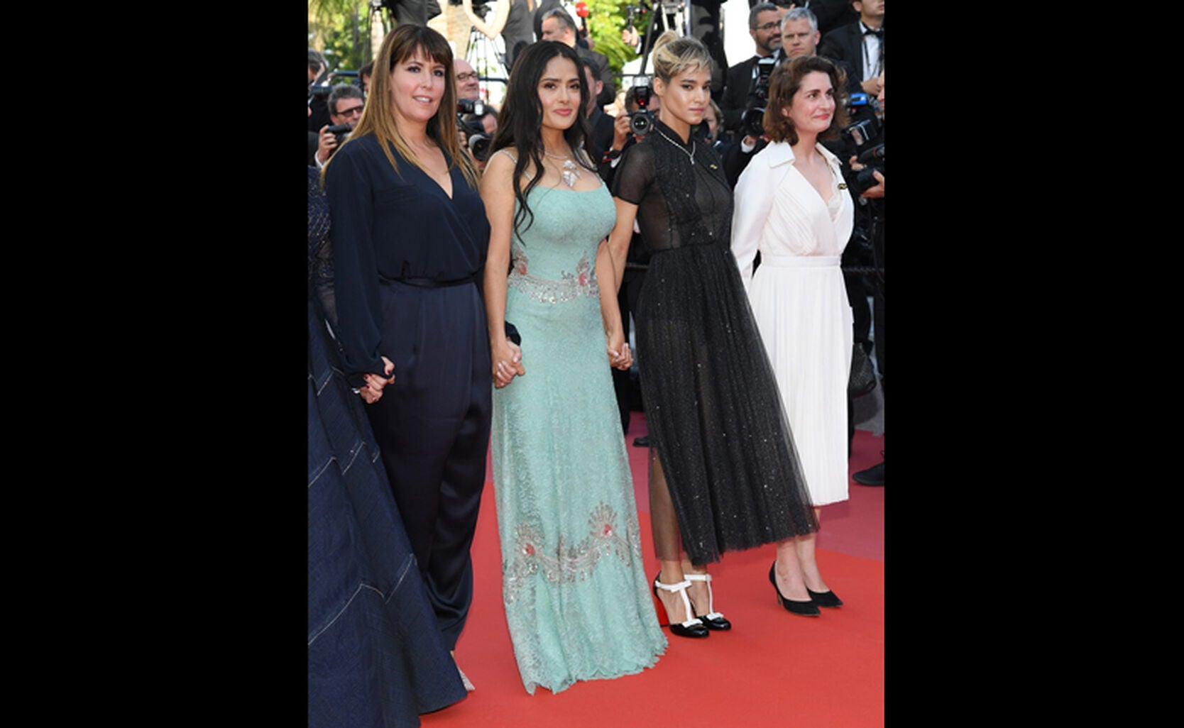 Patty Jenkins and Salma Hayek