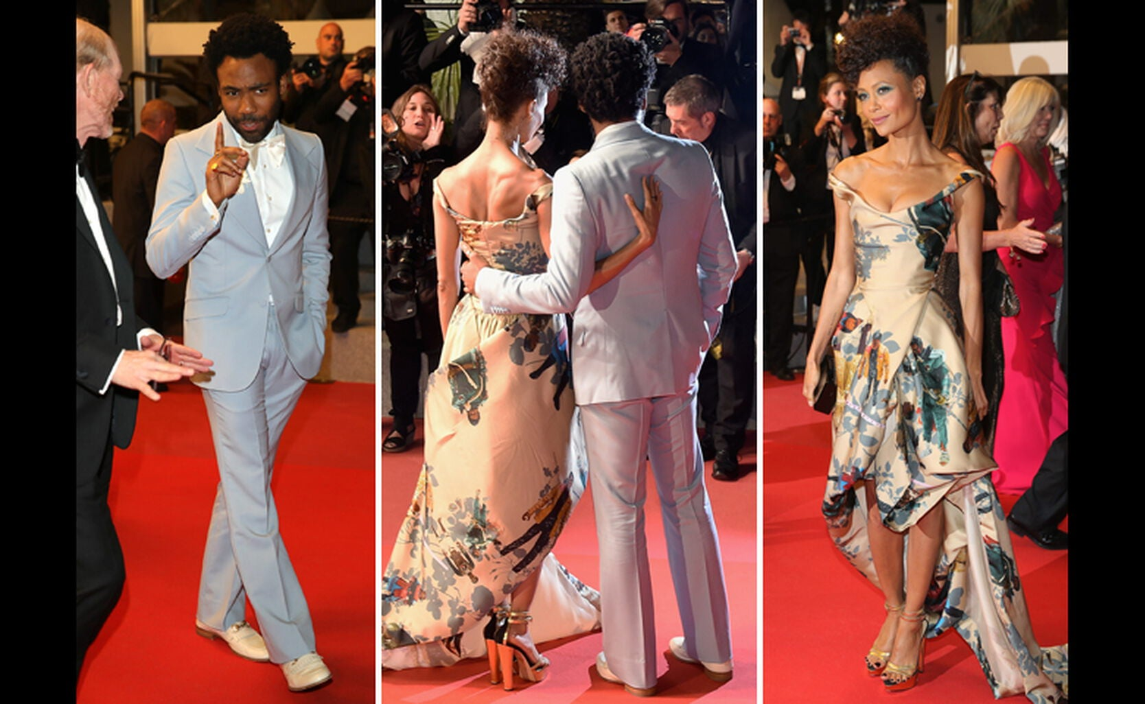Donald Glover and Thandie Newton