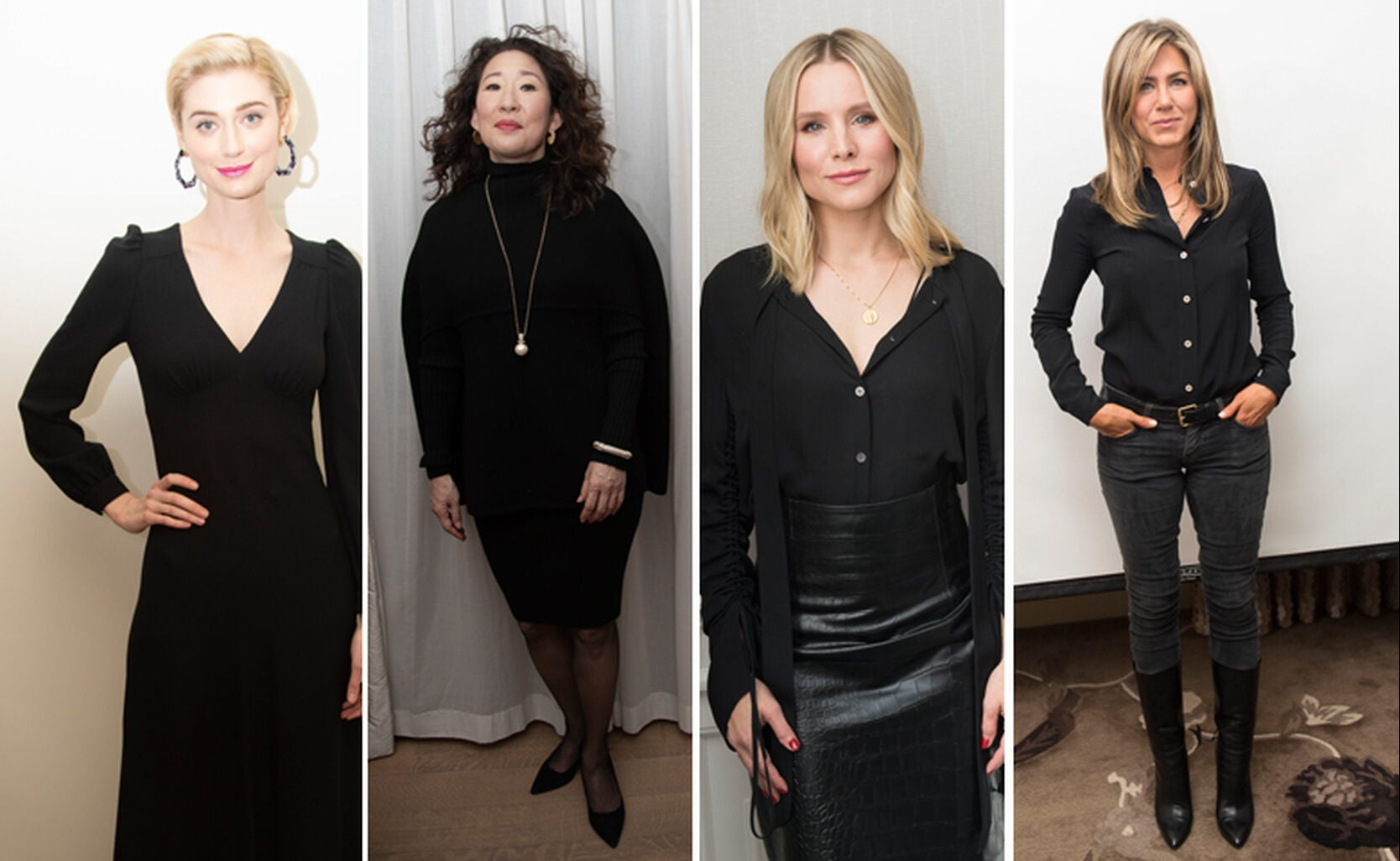 Elizabeth Debicki, Sandra Oh, Kristen Bell, Jennifer Aniston