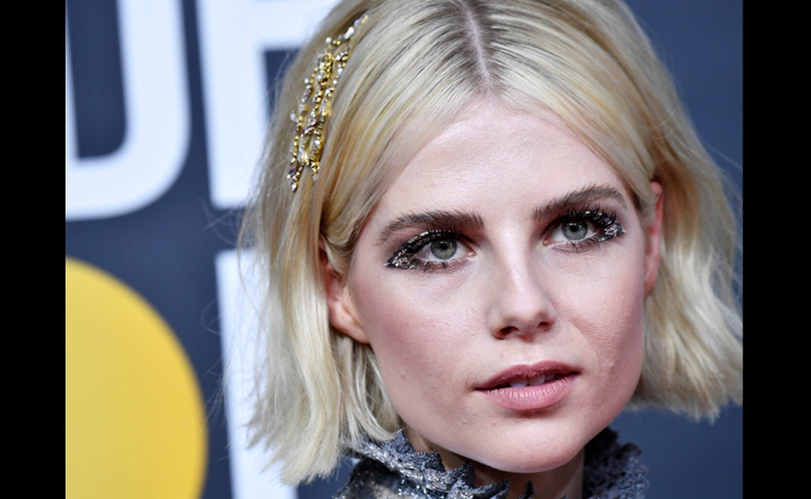 Lucy Boynton at the Globes